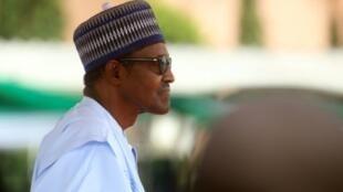 رئيس نيجيريا محمد بخاري في الأول من تشرين الأول/أكتوبر 2018 في أبوجا