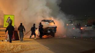 صدامات بين أنصار الزمالك والشرطة في القاهرة