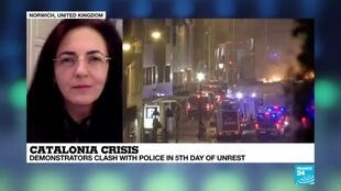 2019-10-18 22:36 Catalonia crisis : demonstrators clash with police in 5th day of unrest