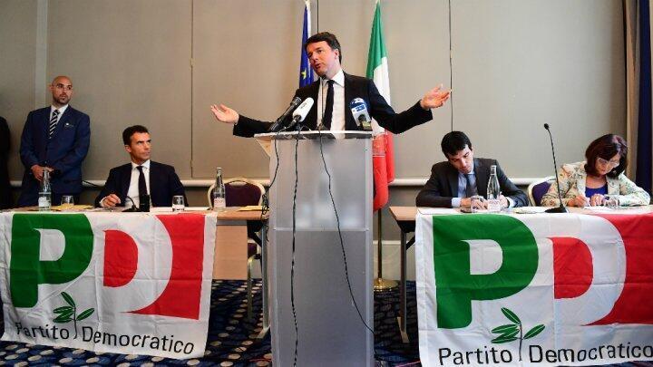 L'ex-Premier ministre Matteo Renzi, après sa victoire à la primaire de son parti de centre-gauche, le 30 avril 2017.