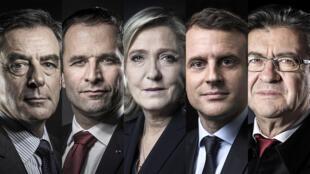 François Fillon, Benoît Hamon, Marine Le Pen, Emmanuel Macron et Jean-Luc Mélenchon s'affrontent à partir de 21h sur TF1 et LCI.