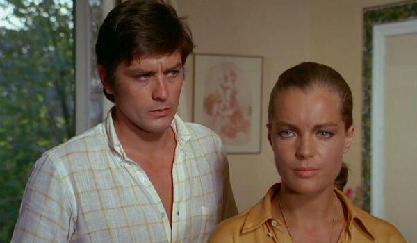 """The Franco-German couple: Alain Delon and Romy Schneider in Jacques Deray's """"La Piscine"""" (1969)."""