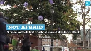 The Strasbourg Christmas market was the scene of a deadly terror attack in December, 2018.