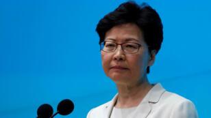 Carrie Lam, le 18 juin 2019, lors d'une conférence de presse à Hong Kong.