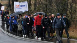 Des manifestants pro-Brexit à Sunderland dans le nord-est de l'Angleterre, le 16 mars 2019.