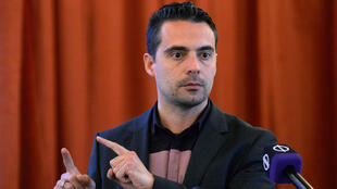 Gabor Vona, leader of Hungary's far-right Jobbik party on April 9