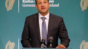 The changes coming into effect after the weekend will see staff return to outdoor workplaces and the reopening of some shops, sports facilities and public amenities; pictured is Prime Minister Leo Varadkar on April 10, 2020