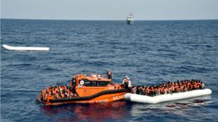 Opération de sauvetage au large de la Libye, le 5 novembre 2016