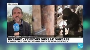 """2021-04-16 12:31 Ukraine : le président ukrainien se veut rassurant mais la situation demeure """"inquiétante"""""""