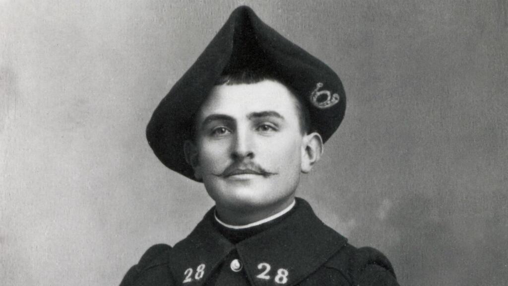 Le seul portrait connu de Pierre Mestre, fusillé pour l'exemple le 8 février 1915