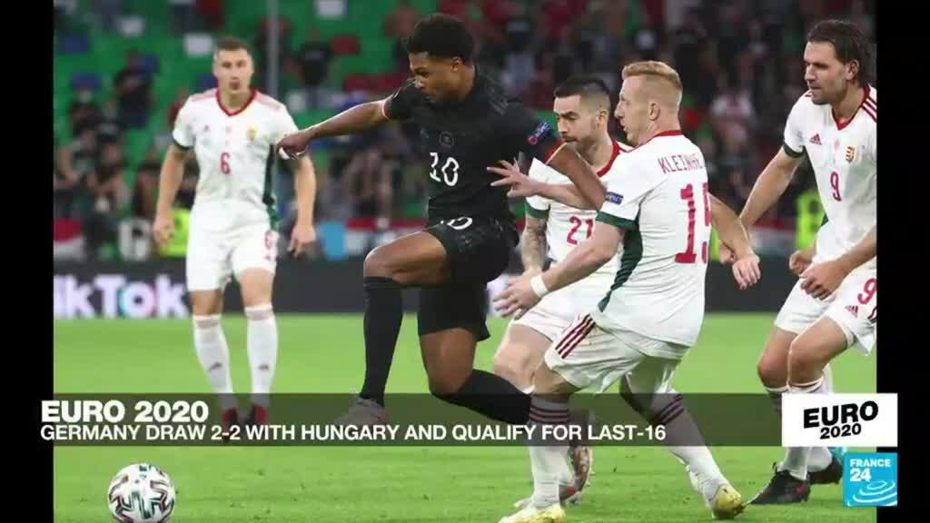 2021-06-23 23:48 Germany salvage late 2-2 draw against Hungary to head for Euro 2021 last 16