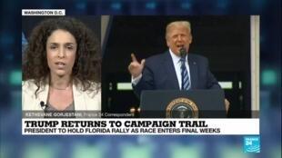 2020-10-12 08:02 Claiming Covid-19 immunity, Trump hits the election trail again