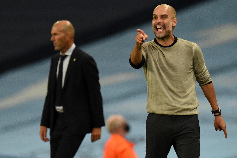 L'entraîneur de Manchester City, Pep Guardiola, est le premier à éliminer le coach Zinedine Zidane de la Ligue des champions.