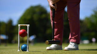 Croquet players in Britain have returned to action after the coronavirus lockdown
