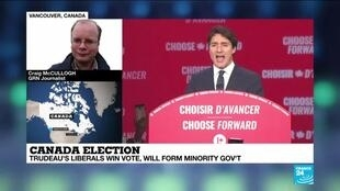 2019-10-22 10:01 GRN's Craig McCullogh explains Canada's Justin Trudeau win for a second term as a Prime Minister