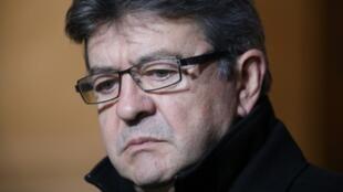 El líder del partido de izquierda La Francia Isumisa, Jean-Luc Melenchon, en París en 2017