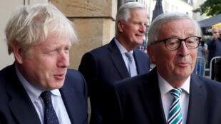 Le Premier ministre britannique et le président de la Commission européenne, le 16septembre2019, à Luxembourg.
