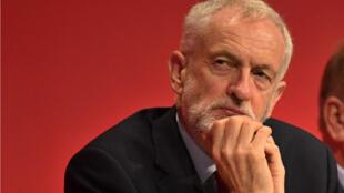 Jeremy Corbyn, chef de file du Labour, lors du congrès de son parti à Brighton, le 23 septembre 2019.