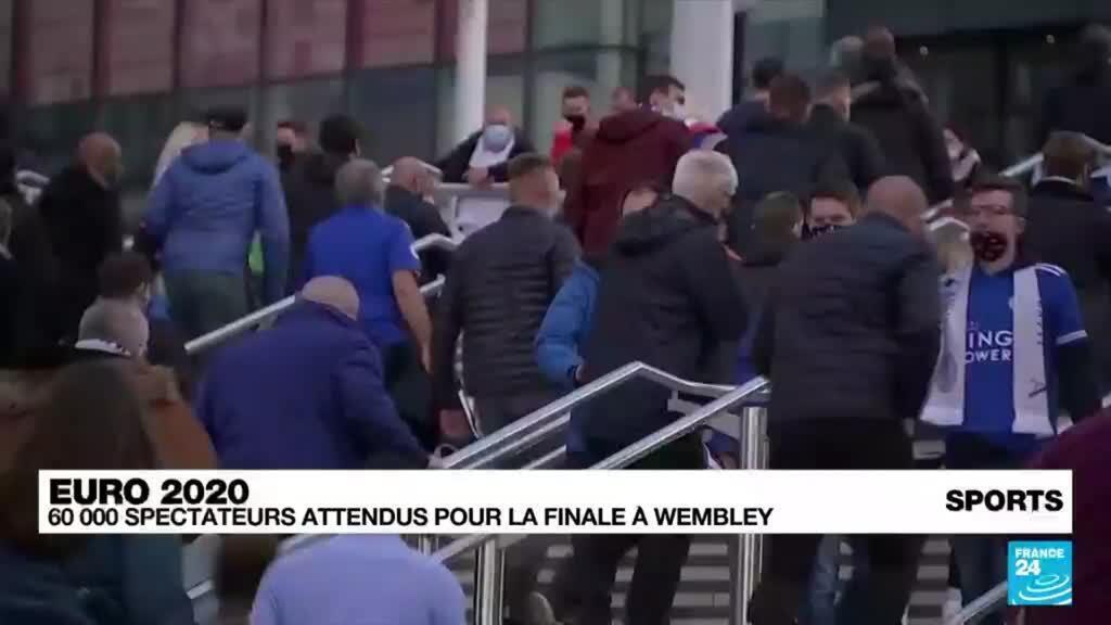 2021-06-22 18:45 EURO-2021: plus de 60.000 spectateurs autorisés à Wembley pour les demi-finales et la finale