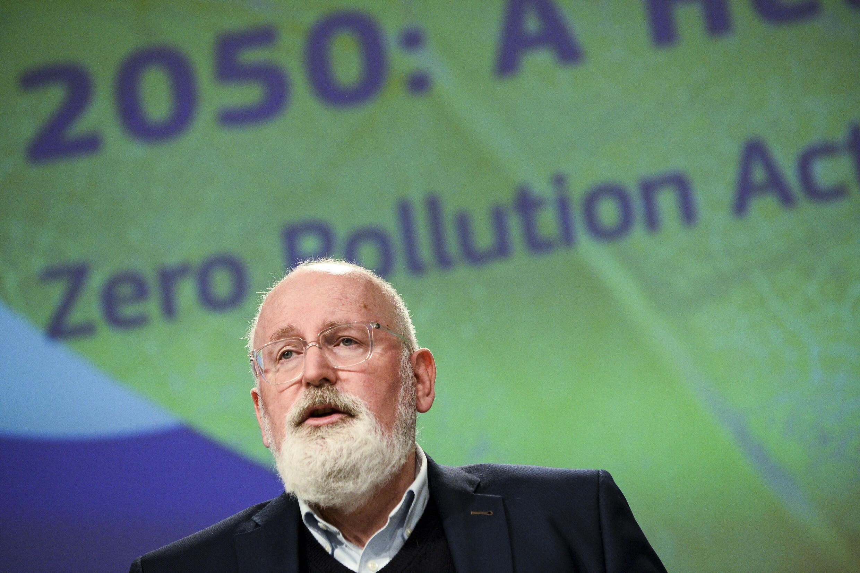 Frans Timmermans, vice-président de la Commission européenne chargé du Pacte vert, à Bruxelles, le 12 mai 2021