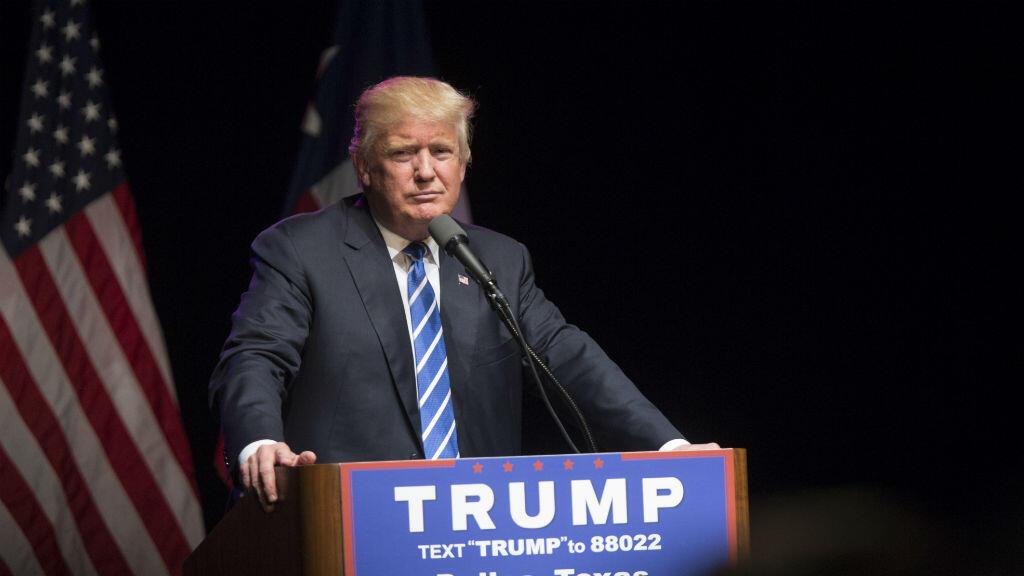 Le candidat républicain à l'élection présidentielle américaine prononce un discours le 16 juin 2016 à Dallas.