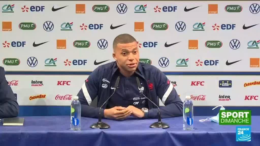 """2021-06-13 21:23 Euro-2021 : Kylian Mbappé """"affecté"""" par les déclarations d'Olivier Giroud"""