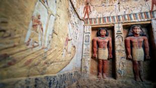 Une partie de la tombe découverte à Saqqara, près du Caire, le 15décembre2018.