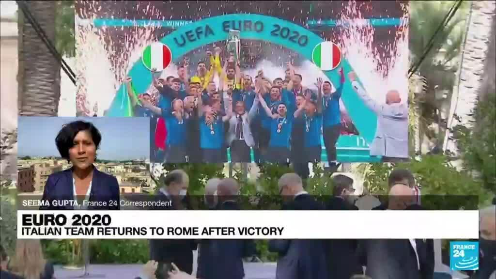 2021-07-12 17:01 Victorious Italy return home after spoiling England's Euro 2021 party