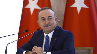 Turkey's Foreign Minister Mevlut Cavusoglu speaks during a news conference assessing Turkish foreign policy, in Ankara, Turkey, December 30, 2020.