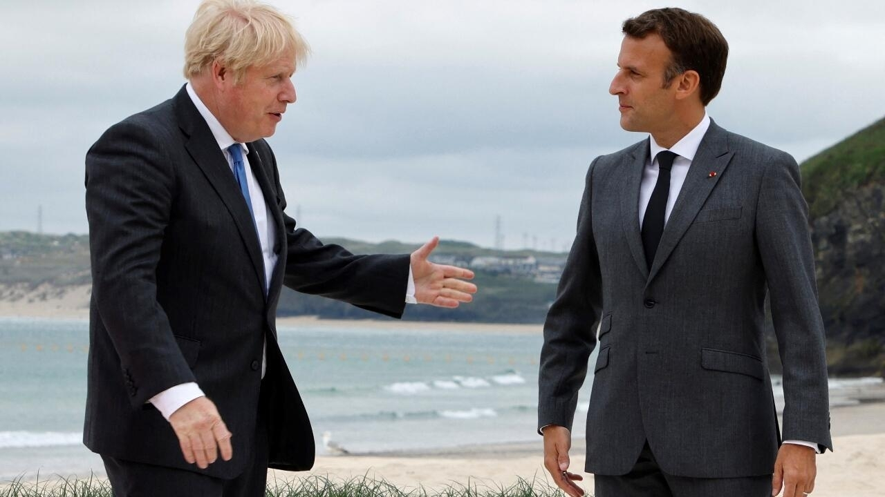 France says Britain's Johnson offered to 're-establish cooperation' amid submarine dispute