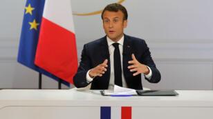 Emmanuel Macron, le 25 avril 2019, à l'Élysée.