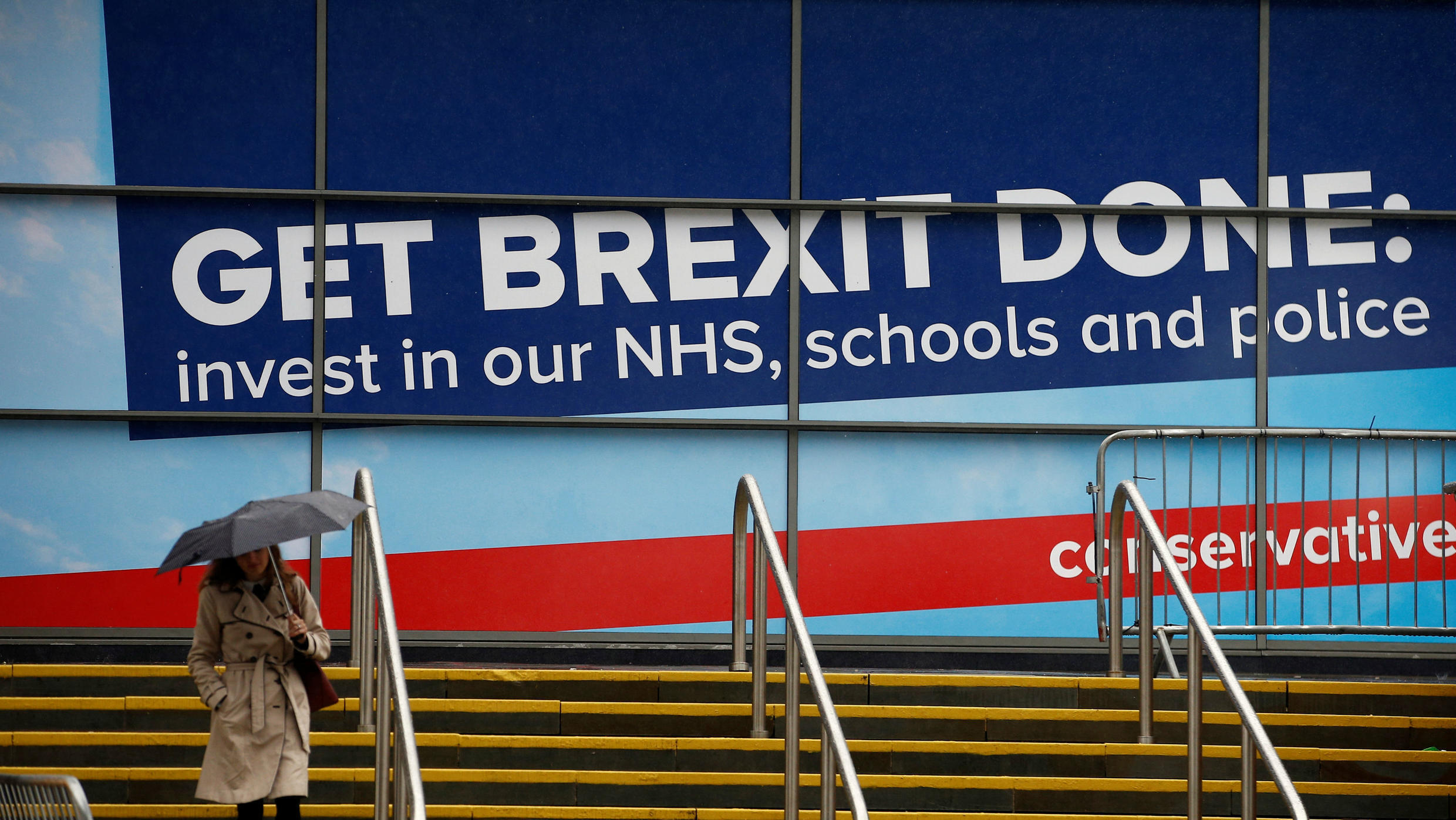 """Get Brexit Done"" became the Tories' main slogan at the party's conference in September 2019."
