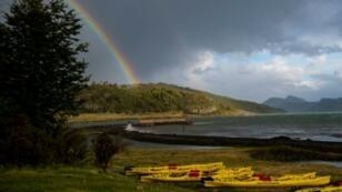 Puerto Natales, en la región de Magallanes en la Patagonia chilena