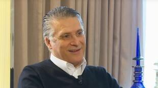 نبيل القروي، مؤسس قناة نسمة الخاصة ومرشح للانتخابات الرئاسية التونسية.