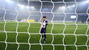 Le Brésilien Neymar après la victoire du PSG face à Rennes, le 12 mai 2018, au stade du Parc des Princes à Paris.