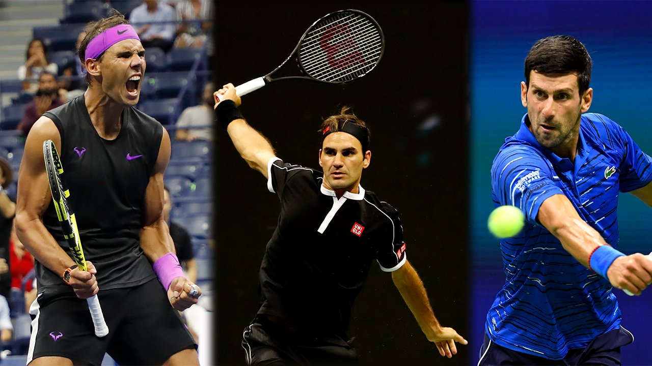El español Rafael Nadal, el suizo Roger Federer y el serbio Novak Djokovic han ganado todos los Grand Slams desde 2017