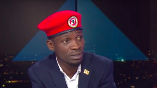 Bobi Wine sur le plateau de France 24 mercredi 12 juin 2019.