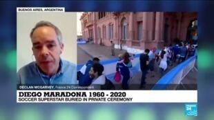 2020-11-27 14:12 Diego Maradona 1960-2020: Soccer superstar buried in private ceremony