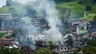 Les combats entre l'armée philippine et les combattants de l'EI se poursuivent à Marawi, le 3 juillet 2017.