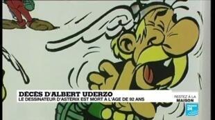 2020-03-24 13:07 Décès d'Albert Uderzo, le dessinateur d'Astérix et Obélix, mort à l'âge de 92 ans
