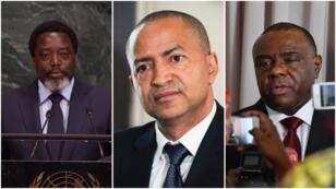 De gauche à droite: Joseph Kabila, Moïse Katumbi et Jean-Pierre Bemba.