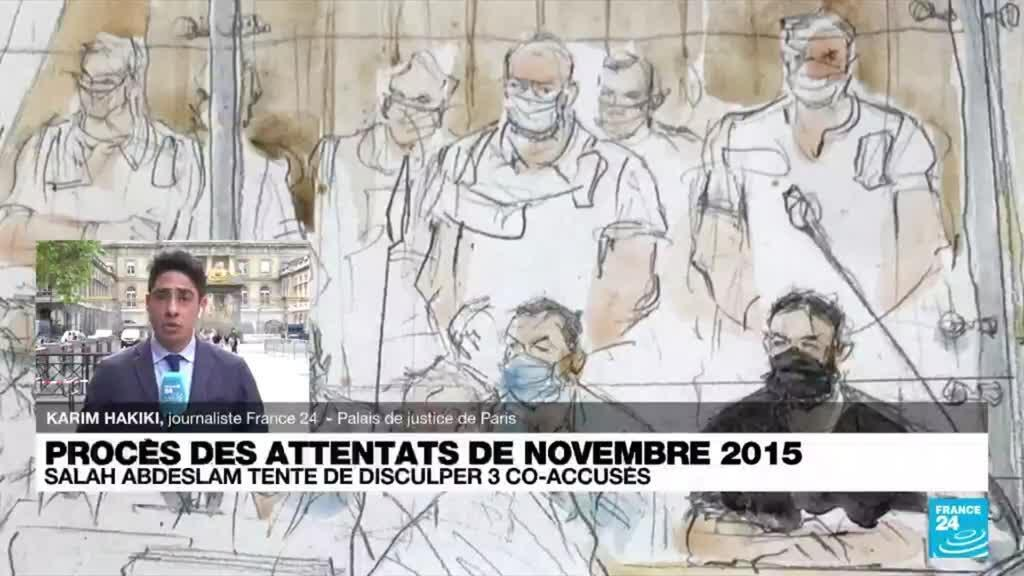 2021-09-09 18:04 Procès des attentats de novembre 2015 : Abdeslam tente de disculper trois co-accusés