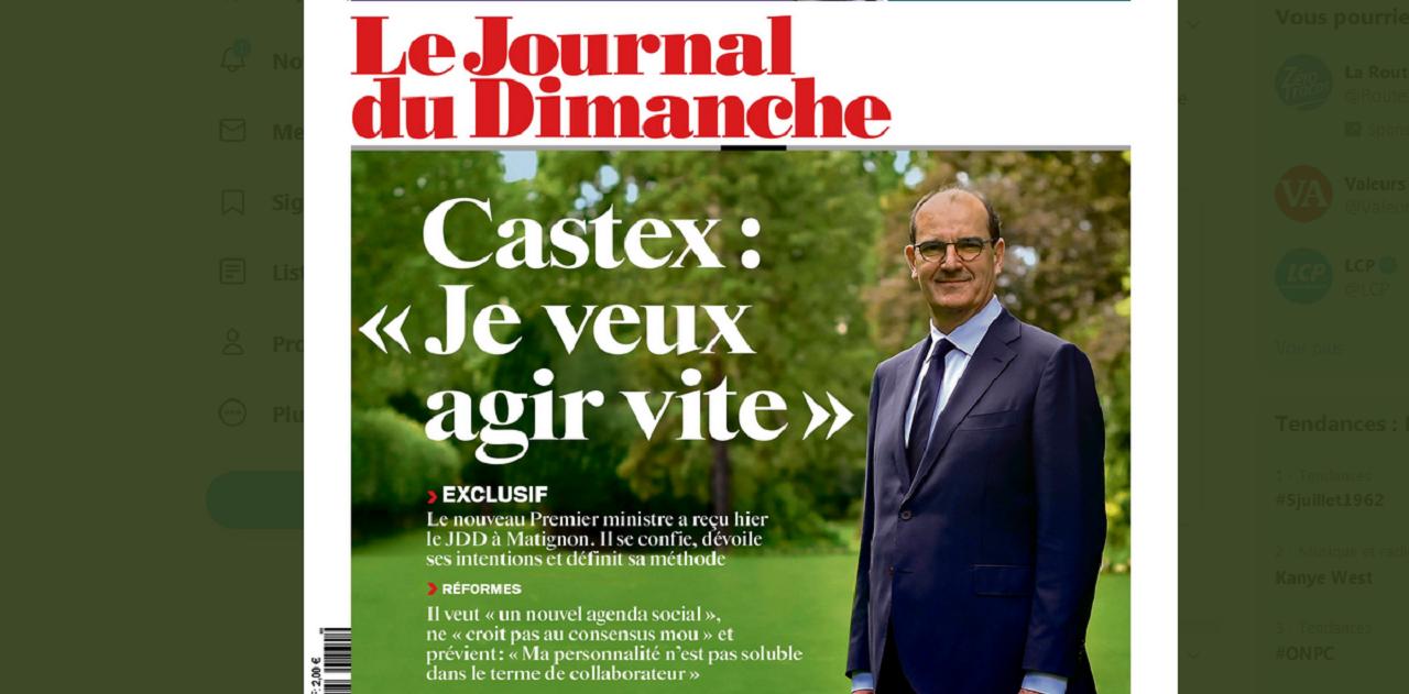 Au lendemain de sa nomination, le nouveau Premier ministre Jean Castex a présenté au JDD ses priorités et sa méthode.