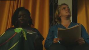 À gauche, l'insoumise Danièle Obono en compagnie de la candidate En Marche ! Béatrice Faillès lors d'un débat.