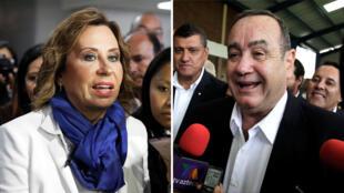 Sandra Torres y Alejandro Giammattei, irán a segunda vuelta, tras la primera vuelta de la elección presidencial en Ciudad de Guatemala, Guatemala, el 17 de junio de 2019.