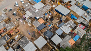 Aerial view of the Jardim Julieta favela, in the outskirts of Sao Paulo, Brazil, on July 15, 2020