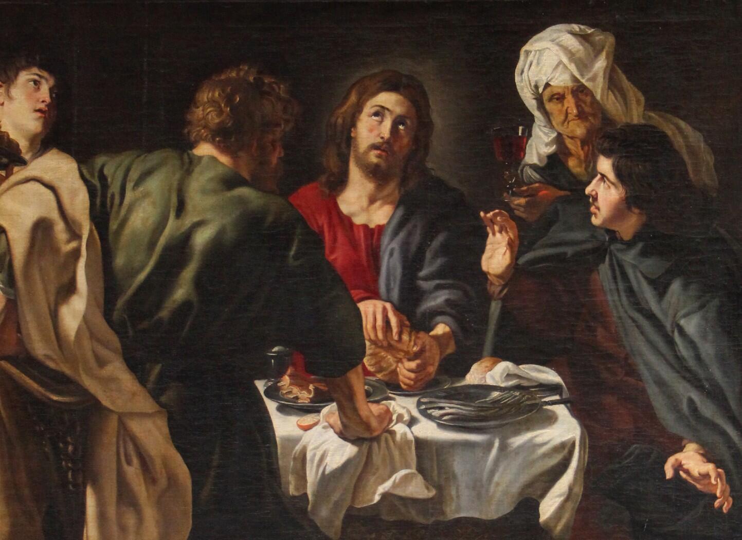 """The Disciples of Emmaus"" by Dutch painter Peter Paul Rubens, at the church of Saint-Eustache in Paris."