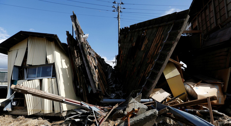 Casas destruidas tras el paso del tifón Hagibis en Koriyama, prefectura de Fukushima. 15 de octubre de 2019.