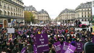 Manifestation contre les violences faites aux femmes place de l'Opéra à Paris, le 23 novembre 2019.