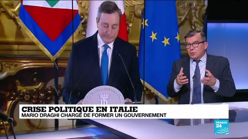 """2021-02-03 15:00 Crise politique en Italie : Mario Draghi, chargé de former un gouvernement, appelle à """"l'unité"""""""
